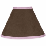 Sweet JoJo Designs Soho Pink & Brown Lamp Shade