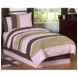 Sweet JoJo Designs Soho Pink & Brown Twin Bedding Set