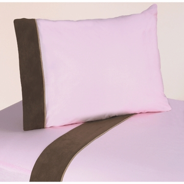 Sweet JoJo Designs Soho Pink & Brown Twin Sheet Set