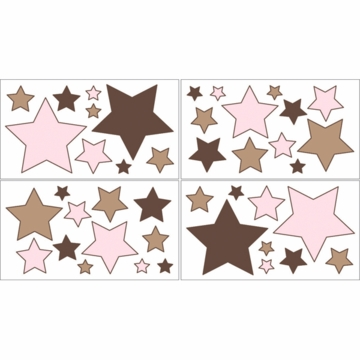 Sweet JoJo Designs Soho Pink & Brown Wall Decals