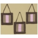 Sweet JoJo Designs Soho Pink & Brown Wall Hangings