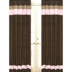 Sweet JoJo Designs Soho Pink & Brown Window Panels - Set of 2
