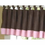 Sweet JoJo Designs Soho Pink & Brown Window Valance