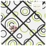 Sweet JoJo Designs Spirodot Lime & Black Fabric Memo Board