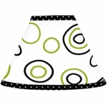 Sweet JoJo Designs Spirodot Lime & Black Lamp Shade