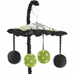 Sweet JoJo Designs Spirodot Lime & Black Musical Mobile