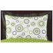Sweet JoJo Designs Spirodot Lime & Black Pillow Sham