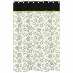 Sweet JoJo Designs Spirodot Lime & Black Shower Curtain