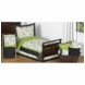 Sweet JoJo Designs Spirodot Lime & Black Toddler Bedding Set