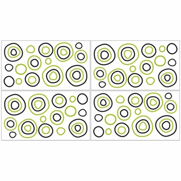 Sweet JoJo Designs Spirodot Lime & Black Wall Decals