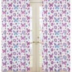 Sweet JoJo Designs Spring Garden Butterfly Print Window Panels - Set of 2