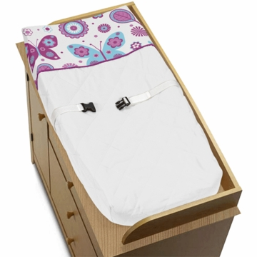 Sweet JoJo Designs Spring Garden Changing Pad Cover
