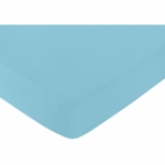 Sweet JoJo Designs Spring Garden Crib Sheet in Turquoise