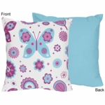 Sweet JoJo Designs Spring Garden Decorative Throw Pillow