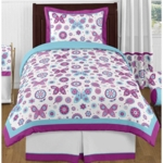 Sweet JoJo Designs Spring Garden Twin Bedding Set