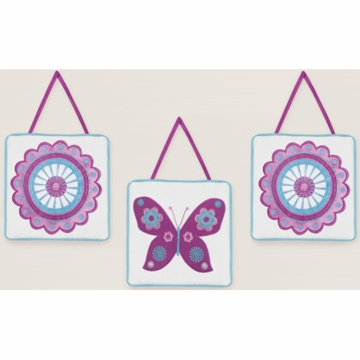Sweet JoJo Designs Spring Garden Wall Hangings