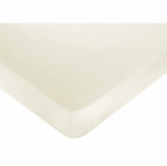 Sweet JoJo Designs Standard Crib & Toddler Sheet in Solid Ivory Cotton