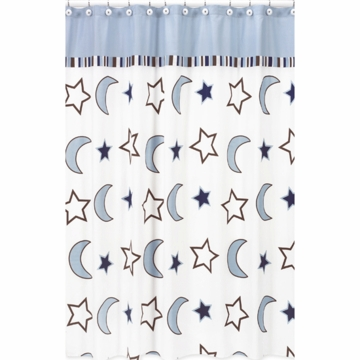 Sweet JoJo Designs Starry Night Shower Curtain