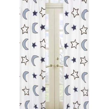 Sweet JoJo Designs Starry Night Window Panels - Set of 2