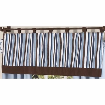 Sweet JoJo Designs Starry Night Window Valance