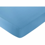 Sweet JoJo Designs Surf Blue & Brown Crib Sheet in Blue