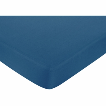 Sweet JoJo Designs Surf Blue & Brown Crib Sheet in Dark Blue