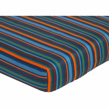 Sweet JoJo Designs Surf Blue & Brown Crib Sheet - Multi Stripe