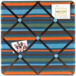 Sweet JoJo Designs Surf Blue & Brown Fabric Memo Board