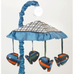 Sweet JoJo Designs Surf Blue & Brown Musical Mobile