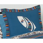 Sweet JoJo Designs Surf Blue & Brown Pillow Sham