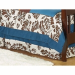 Sweet JoJo Designs Surf Blue & Brown Toddler Bed Skirt
