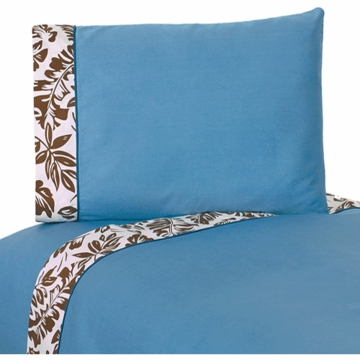 Sweet JoJo Designs Surf Blue & Brown Twin Sheet Set