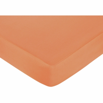 Sweet JoJo Designs Surf Pink & Orange Crib Sheet in Orange