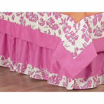 Sweet JoJo Designs Surf Pink & Orange Toddler Bed Skirt