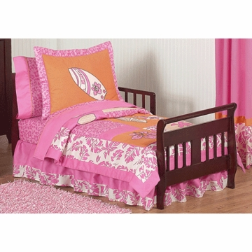 Sweet JoJo Designs Surf Pink & Orange Toddler Bedding Set