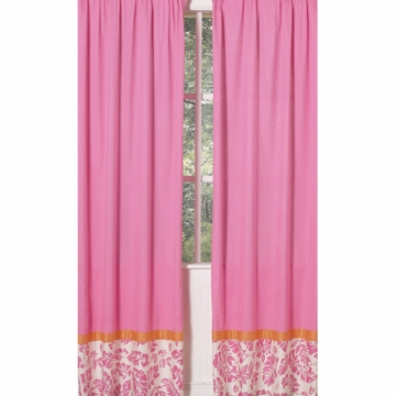 Sweet JoJo Designs Surf Pink & Orange Window Panels - Set of 2
