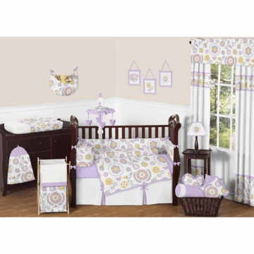 Sweet JoJo Designs Suzanna 9 Piece Crib Bedding Set