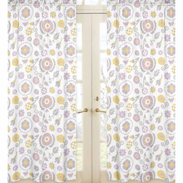 Sweet JoJo Designs Suzanna Floral Print Window Panels - Set of 2
