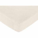 Sweet JoJo Designs Teddy Bear Chocolate Crib Sheet - Cream Microsuede