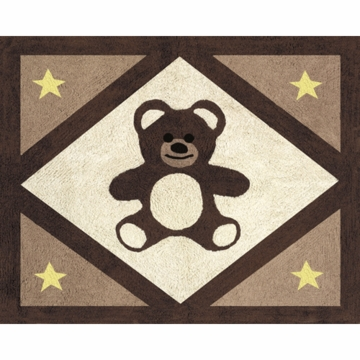 Sweet JoJo Designs Teddy Bear Chocolate Floor Rug