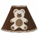 Sweet JoJo Designs Teddy Bear Chocolate Lamp Shade