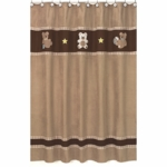 Sweet JoJo Designs Teddy Bear Chocolate Shower Curtain
