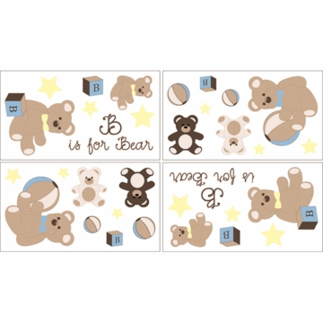 Sweet JoJo Designs Teddy Bear Chocolate Wall Decals
