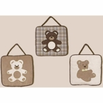Sweet JoJo Designs Teddy Bear Chocolate Wall Hangings