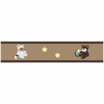 Sweet JoJo Designs Teddy Bear Chocolate Wallpaper Border