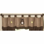 Sweet JoJo Designs Teddy Bear Chocolate Window Valance