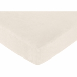 Sweet JoJo Designs Teddy Bear Pink Crib Sheet - Cream Microsuede