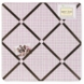 Sweet JoJo Designs Teddy Bear Pink Fabric Memo Board