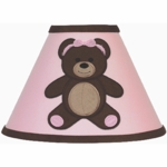 Sweet JoJo Designs Teddy Bear Pink Lamp Shade