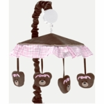 Sweet JoJo Designs Teddy Bear Pink Musical Mobile
